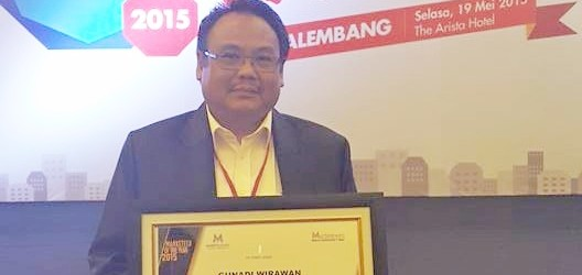 Gunadi Wirawan, Terima Penghargaan Markeeter of The Year Palembang 2015