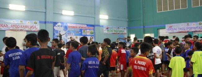 350 Atlet Muda Ikuti Turnamen Badminton CitraRaya Open Cup XIV