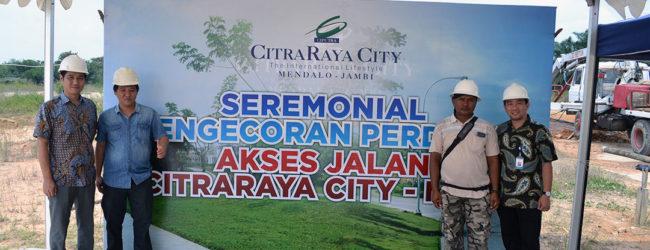 Pengecoran Perdana Jalan CitraRaya City – Ness