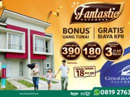 CitraGrand City Tawarkan Rumah Rp390 Jutaan Beserta Bonus Uang Tunai Plus Gratis Biaya KPR!